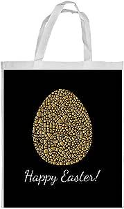 Golden egg Printed Shopping bag, Large Size