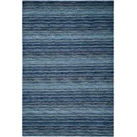 Safavieh Himalaya Collection HIM707A Handmade Blue and Multi Premium Wool Area Rug (6 x 9)