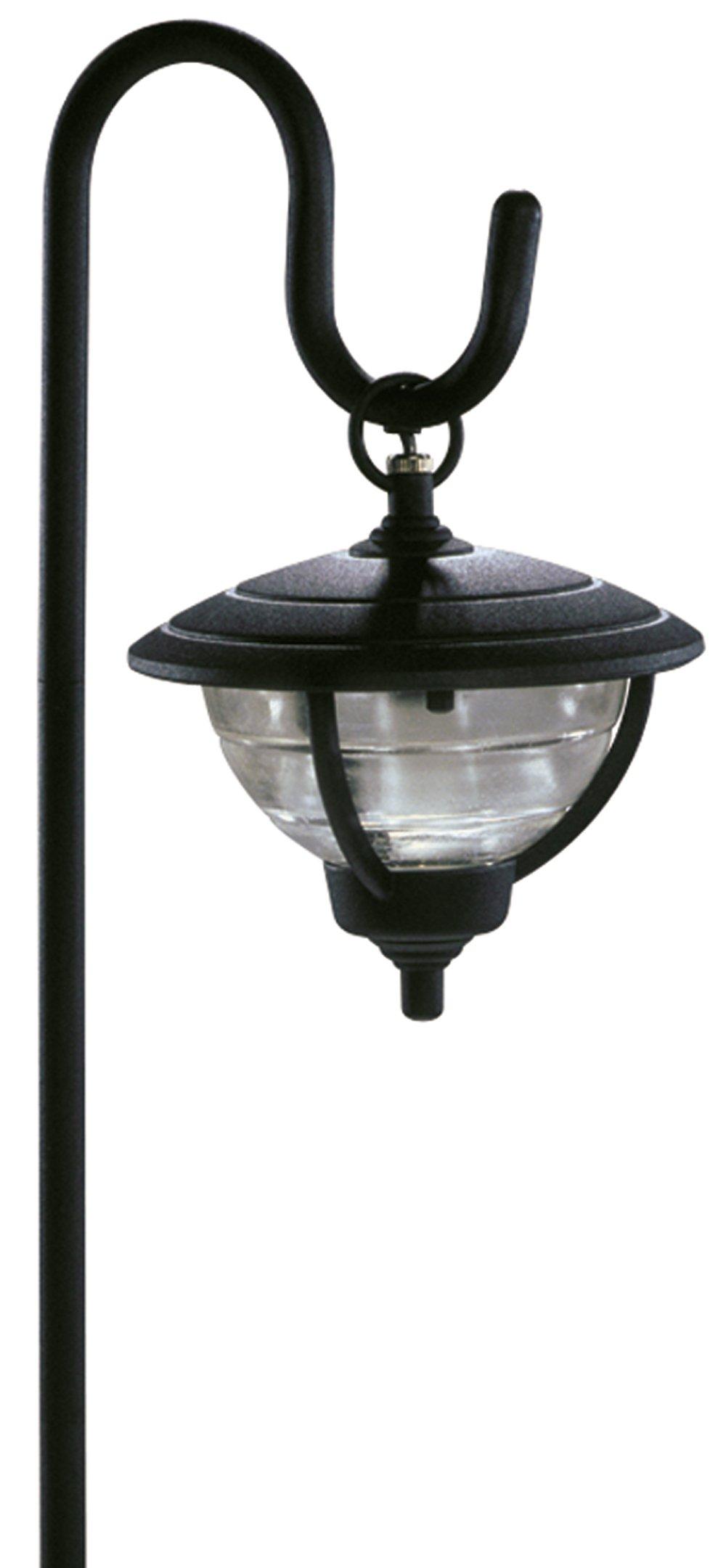 Sterno Home Cast Aluminum Palm Island Hanging Path Light, Black