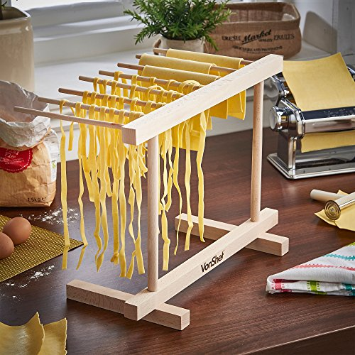 VonShef Collapsible Wooden Pasta and Spaghetti Drying Rack Stand, Natural Beechwood, by VonShef (Image #4)