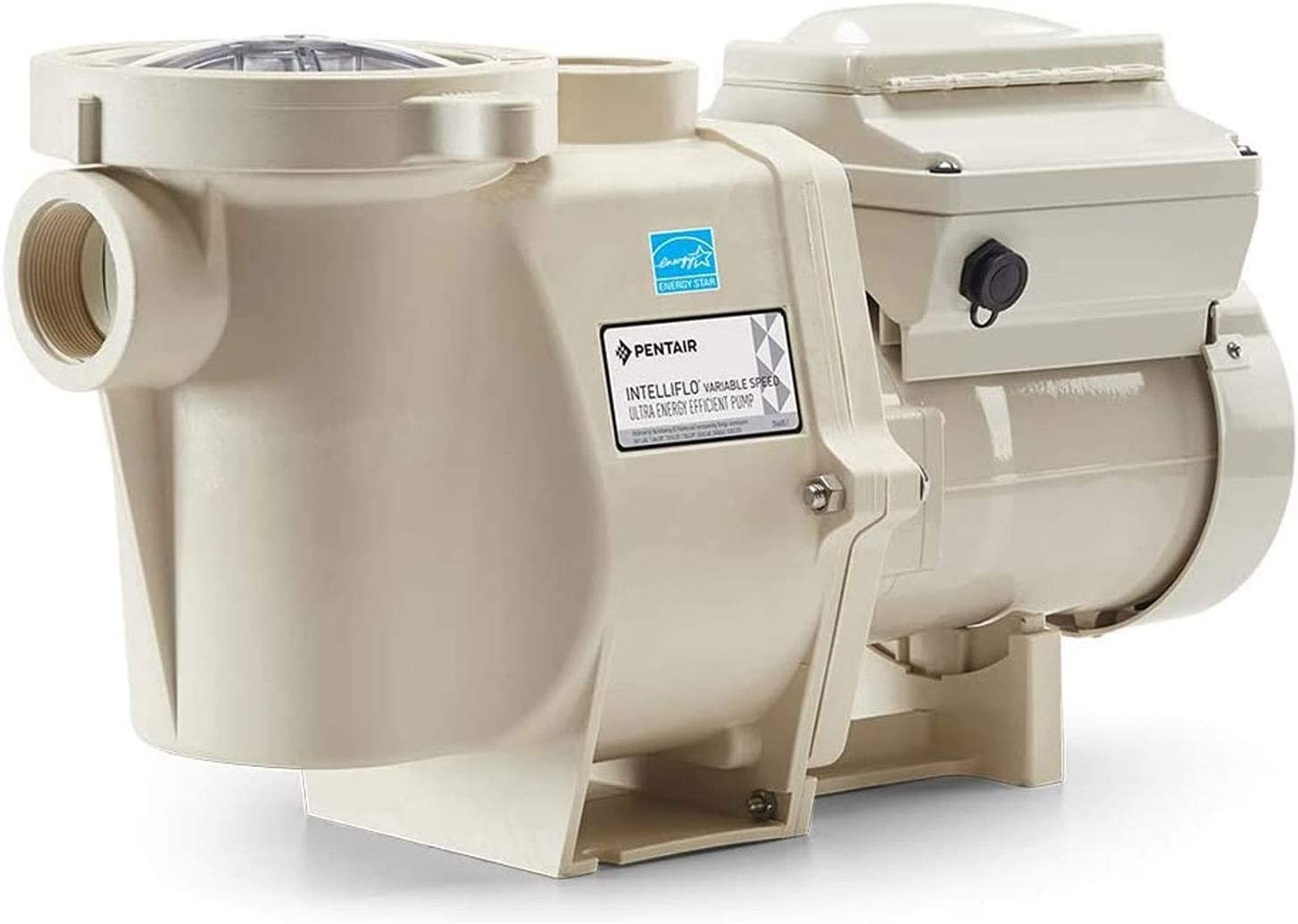 Pentair 011057 IntelliFlo VS SVRS Variable Speed 3HP Energy Efficient Quiet In Ground Swimming Pool Pump With Built In Safety Vacuum Release System