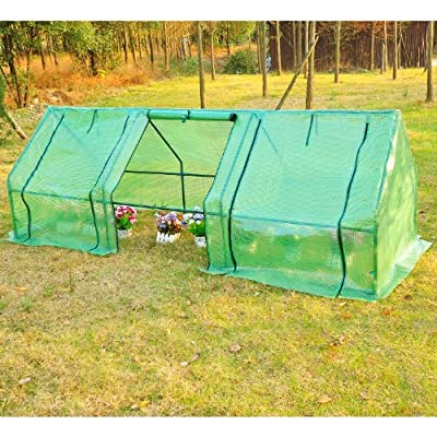 Outsunny 9' L x 3' W x 3' H Outdoor Portable Flower Plant Garden Greenhouse Kit by Outsunny