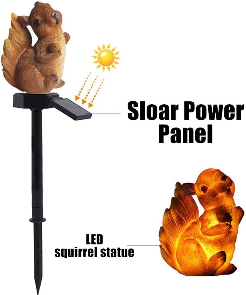 Luz Solar Para Césped Ardilla Luz Resina Exterior Impermeable ...