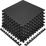 Sivan MAT-Lock-BLK Interlocking Foam Puzzle Exercise Mat, Black For Sale