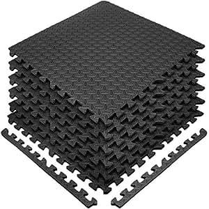 Amazoncom Sivan Mat Lock Blk Interlocking Foam Puzzle Exercise