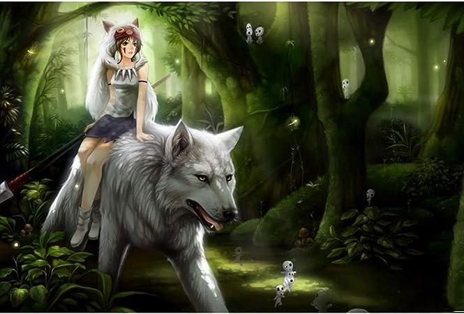 VAST La Princesa Mononoke Historieta del Animado Puzzles, Rompecabezas de descompresión de la Familia del Juguete del Juego, 300/500/1000 Piezas de Tilo Rompecabezas 508 (Size : 300pc) : Amazon.es: Juguetes y juegos