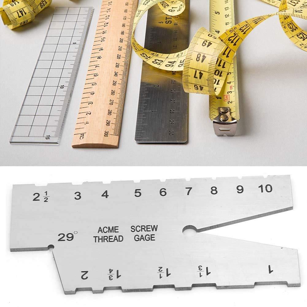 29 Degree Acme Stainless Steel Screw Thread Gauge Measuring Gauge Tool Thread Gauge