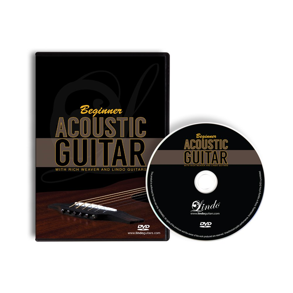 Lindo Beginner Acoustic Guitar Dvd With 12 Lessons Of Tuition With