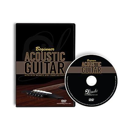 Lindo principiante guitarra acústica DVD con 12 lecciones de matrícula con ricos Weaver