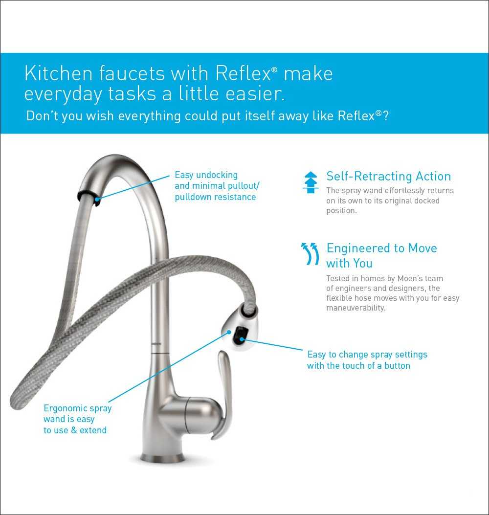 Moen 7565SRS Align One-Handle High-Arc Pulldown Kitchen Faucet ...
