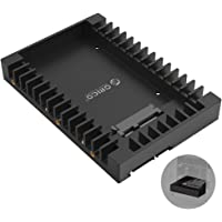 """ORICO 2.5"""" to 3.5"""" Hard Drive Adapter Converter Mounting Bracket Frame Caddy Tray, for 2.5-Inch SATA HDD or SSD 7 / 9.5 / 12.5 mm, Fireproof ABS Material"""