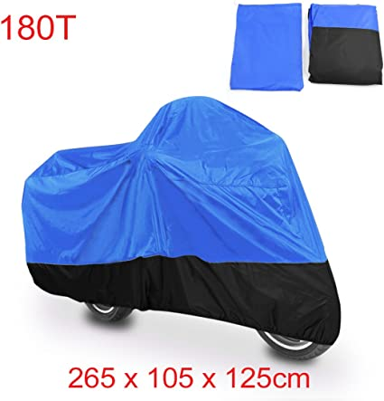 L Blue Black Dust Waterproof Indoor Outdoor Motorcycle Cover For Sports bikes US