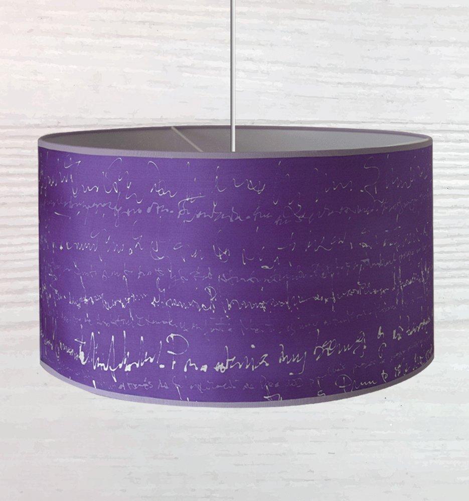 Pantalla de lámpara 100% seda pintada a mano. Apta para ...