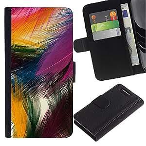 For Sony Xperia Z1 Compact D5503 Case , Easter Festive Colorful Bird Nature - la tarjeta de Crédito Slots PU Funda de cuero Monedero caso cubierta de piel