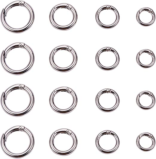 Snap Clip Trigger Spring Gate O Ring Keyring Buckle Bag DIY Decor Accessory US