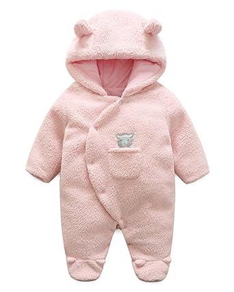 62088b3ae Deyou Newborn Baby Sheep Snowsuit Hooded Warm Fleece Infant Winter ...