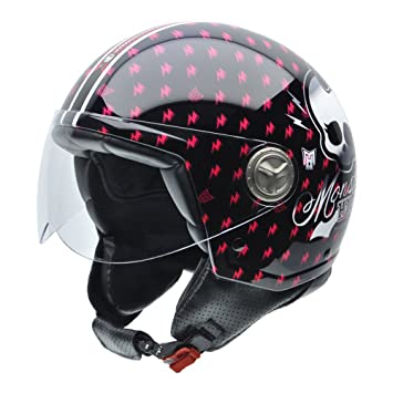 NZI 050278G771 Zeta Sweet Fuchsia by Monster High Casco de Moto, Talla 57 (M