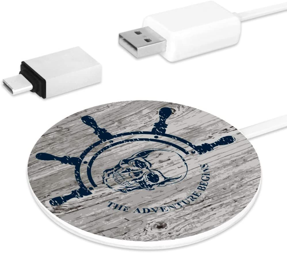 Nautical Marine Badge with Anchor Multi Charging Cable Multi Charger USB Cable 3 in 1 Charging Cable for Phones /& Tablets