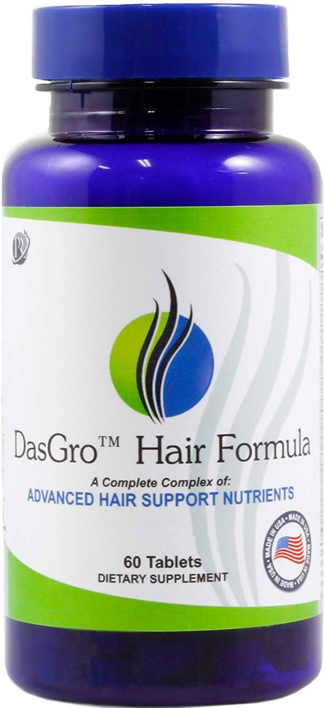 DasGro Hair Growth Vitamins, Biotin & DHT Blocker, Stops Hair Loss, Thinning, Balding, Promotes Hair Regrowth in Men & Women, All Hair Types, 30 Day Supply: Health & Personal Care