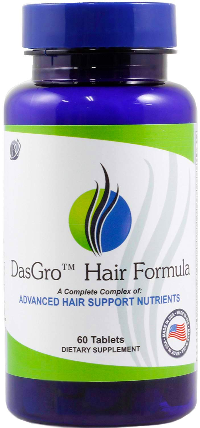 DasGro Hair Growth Vitamins, Biotin & DHT Blocker, Stops Hair Loss, Thinning, Balding, Promotes Hair Regrowth in Men & Women, All Hair Types, 30 Day Supply by PRN Pure Results Nutrition