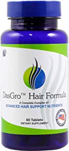 DasGro Hair Growth Vitamins, Biotin & DHT Blocker, Stops Hair Loss, Thinning, Balding, Promotes Hair Regrowth in Men & Women, All Hair Types, 30 Day Supply