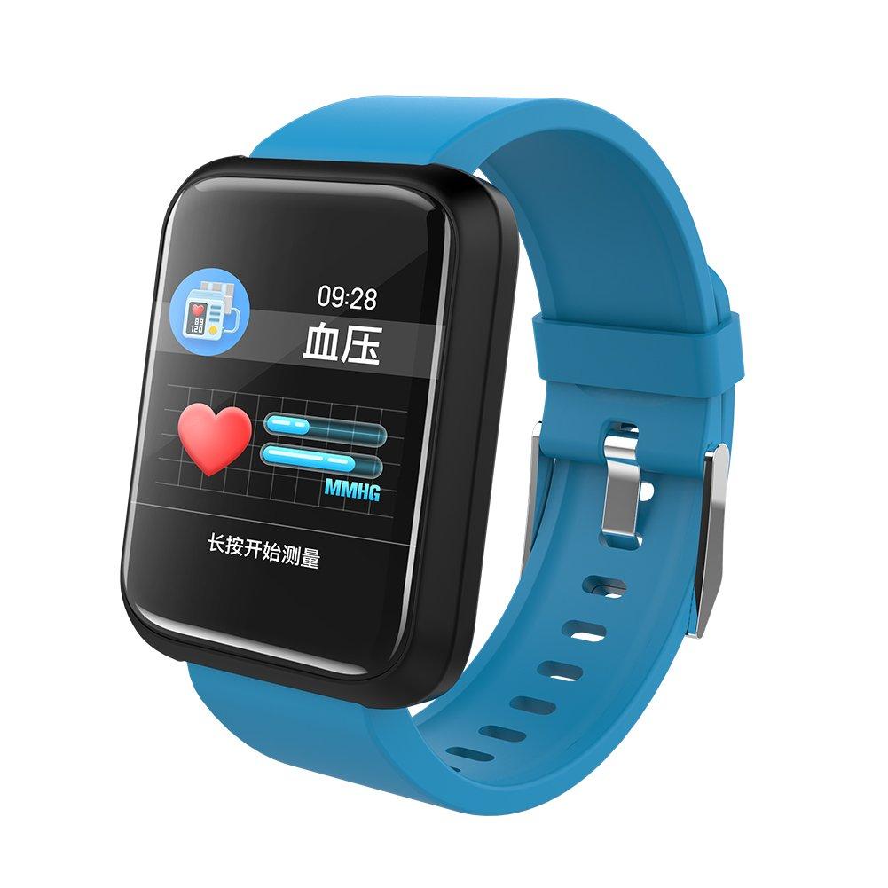 UxradG Smartwatch - Reloj Inteligente Bluetooth Impermeable IP68 Fitness Tracker Reloj con Monitor de frecuencia Cardíaca Podómetro Monitor de Sueño, 0.02, ...