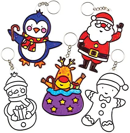 Ceramic Christmas Arts and Crafts for Kids to Decorate and Personalise Pack of 4 Baker Ross Make Your Own Bauble