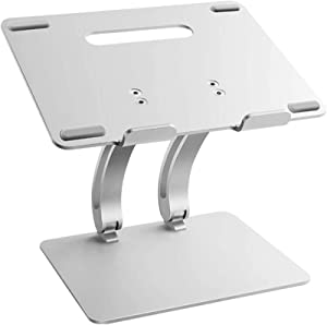 """CHICHIC Laptop Stand Adjustable MacBook Stand Laptop Riser for Desk, Ergonomic Portable Aluminum Computer Stand Laptop Holder, Compatible with MacBook Pro/Air, Lenovo, HP, Dell, More 11-17"""" Laptops"""