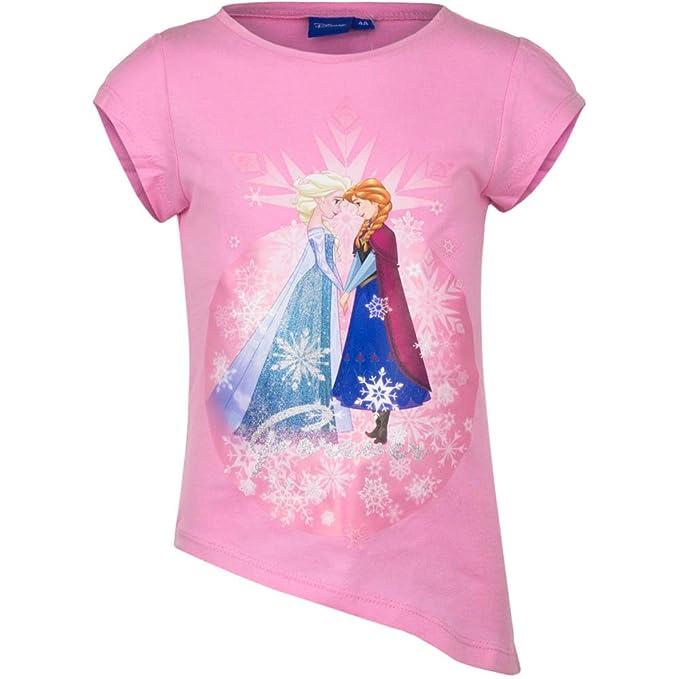 5387 Kinder Kurzarm T-Shirt DISNEY FROZEN EISK/ÖNIGIN zum Knoten kurz/ärmliges T-Shirt