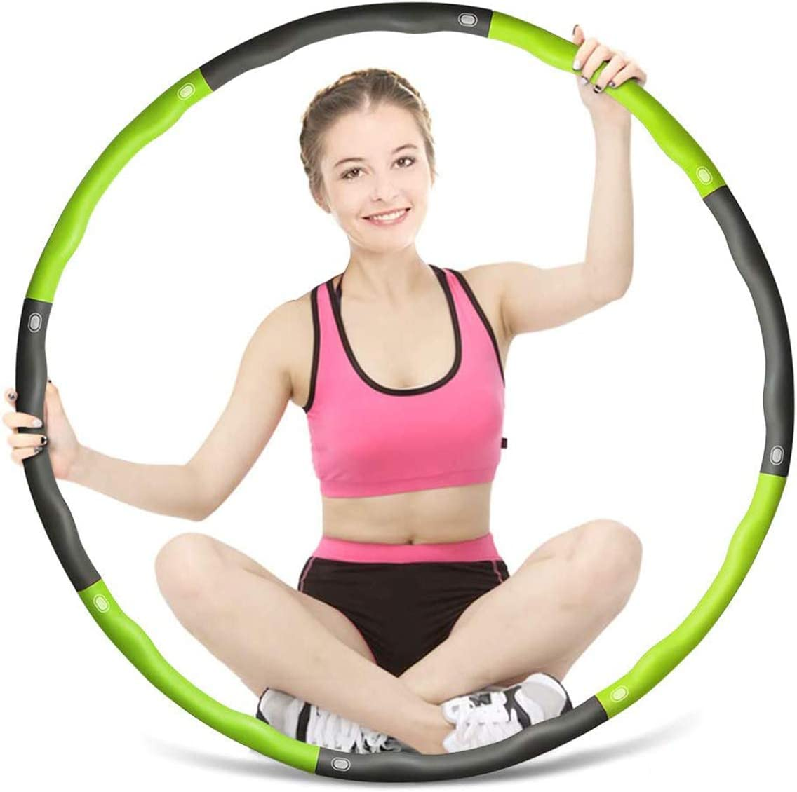 SourceDIY Weighted Hula Hoop for Adults and Teenagers GYM or office Body Toning /& Weight Loss at home Large Fitness Foam Padded Exercise Hoola Hoops for Beginners to Intermediate Level