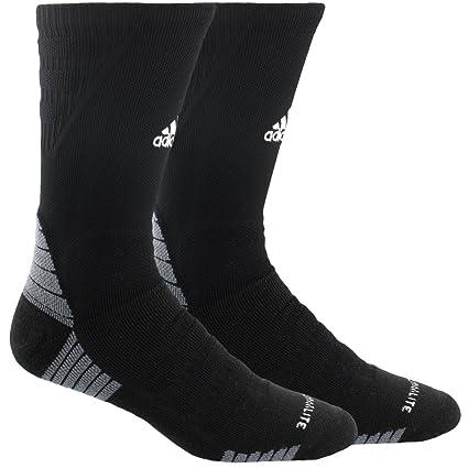 newest cde14 a7b3b adidas Alphaskin Maximum Cushioned Crew Socks (1-Pack), blackwhite