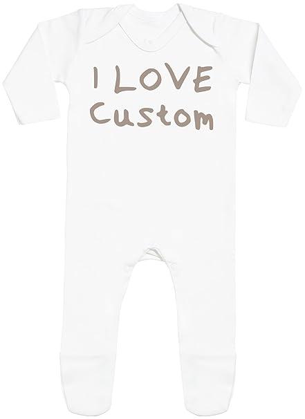 Spoilt Rotten Personalizados bebé I Love with Feet - Peleles Personalizados para bebé - Regalos Personalizados para bebé: Amazon.es: Ropa y accesorios