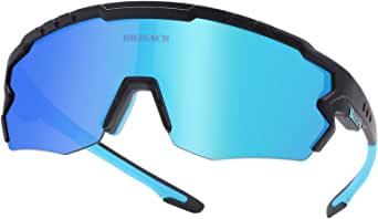 Bicycle Polarized Sunglasses Sports Cycling Sunglasses with 3 Interchangeable.