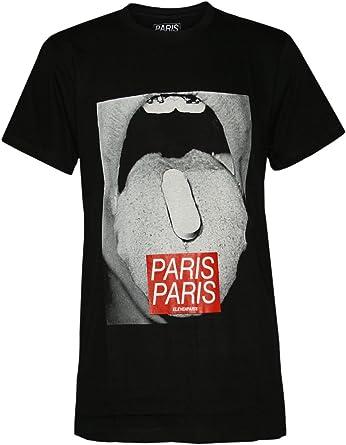 Eleven Paris Diseñador Hombre Shirt Camisetas - Cachet -: Amazon.es: Ropa y accesorios