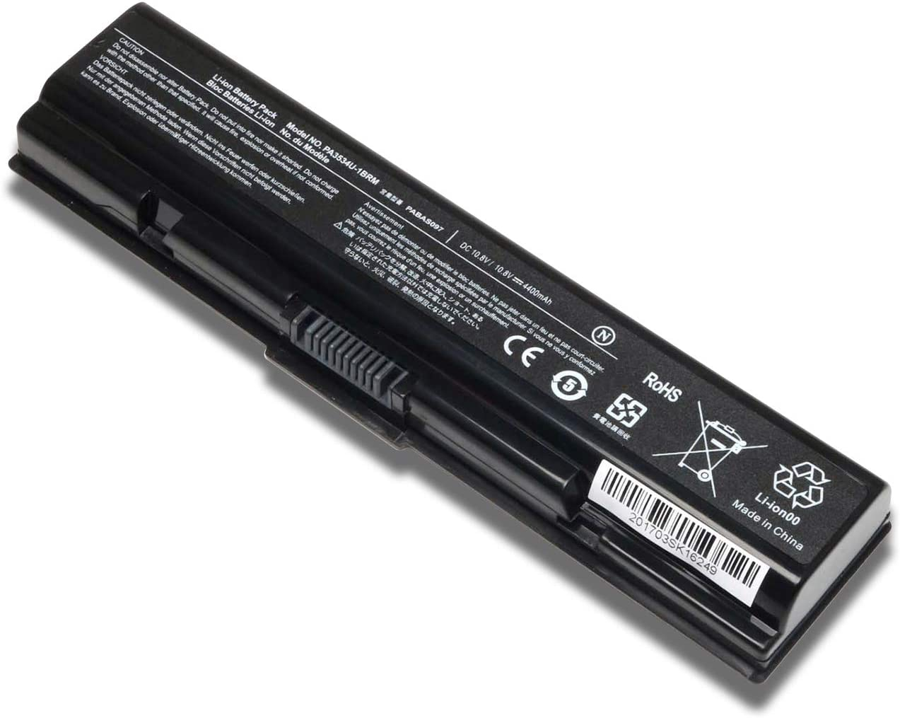 New PA3534U-1BRS Replacement Laptop Battery for Toshiba PA3727U-1BRS PA3533U-1BRS PA3534U-1BAS PA3535U-1BRS PA3535U-1BAS Fits Satellite A200 A205 A300 A305 A500 A505 L300 L305  4400mAh 10.8V
