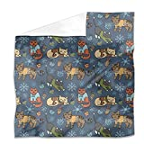 Christmas Cats Flat Sheet: King Luxury Microfiber, Soft, Breathable