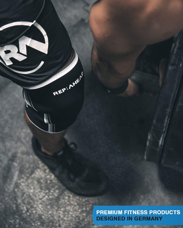 Deporte REP AHEAD/®️ Rodillera 2.0 Fisicoculturismo Levantamiento de Pesas - Rodilleras innovadoras| Gimnasio 1 par, 7mm Entrenamiento Muscular |Correr Crossfit
