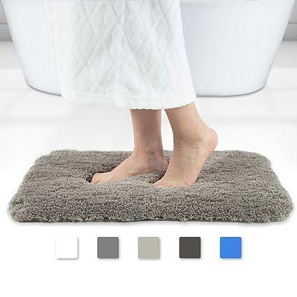 Amazoncom Walensee Brown Bath Rugs Plush Soft Bath Mats Microfiber