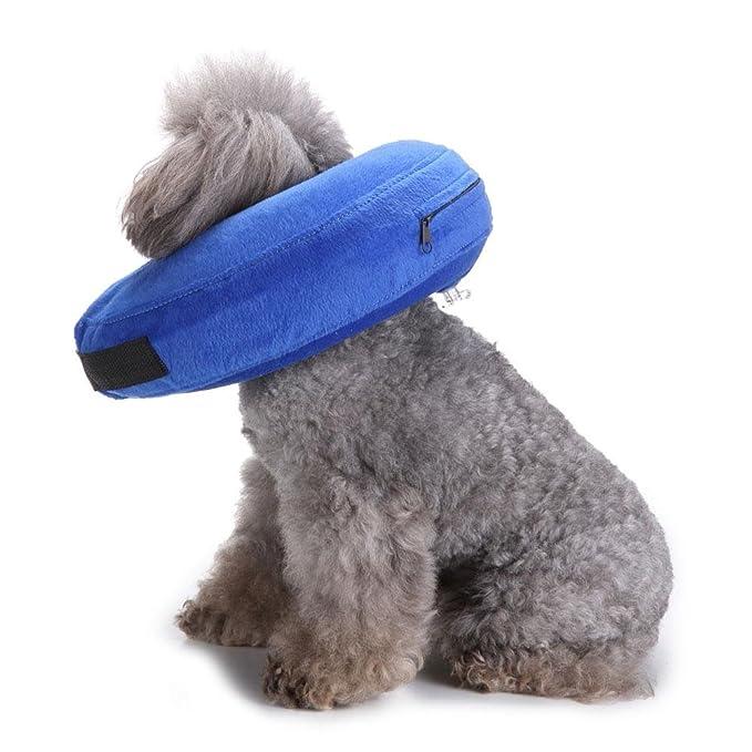 Cuello Inflable Protector para Perros y Gatos, Collar de Recuperación de Perro para Cirugía Suave Ajustable Culo Cómodo de Recuperación de Mascotas para ...
