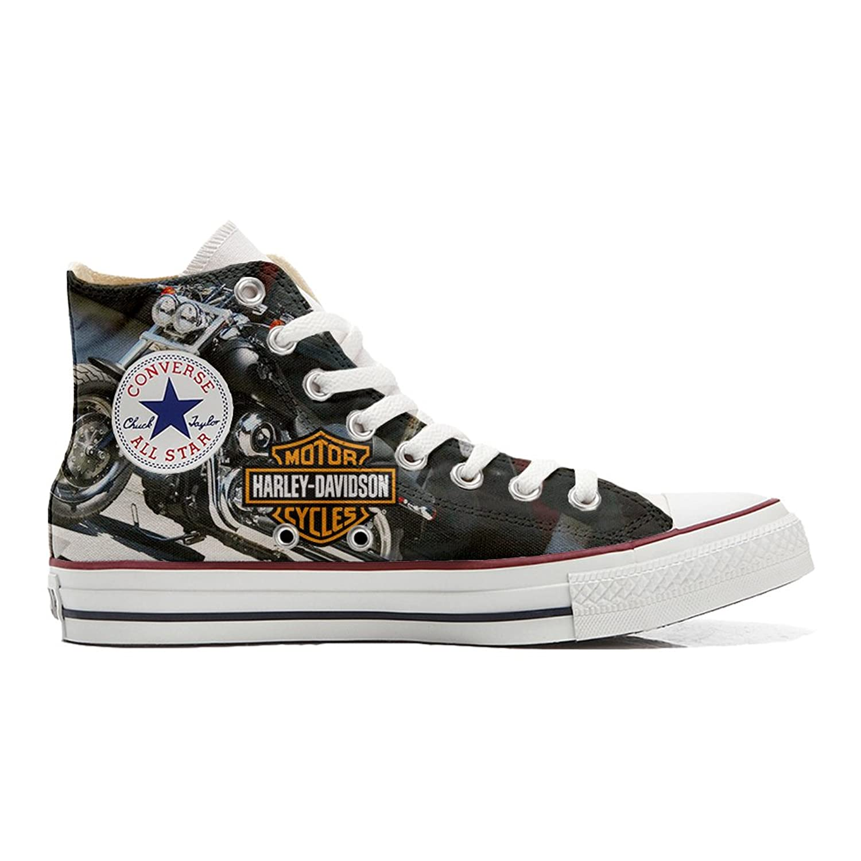 Converse All Star Customized - Zapatos Personalizados (Producto Artesano) Motor Cycles 41 EU