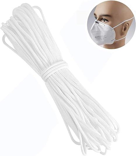 Amazon Com Lelife 1 8 Inch 100 Yards White Soft Elastic String