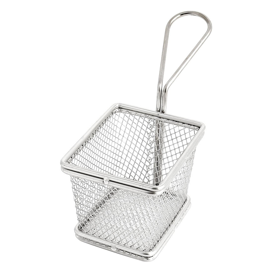 uxcell Stainless Steel Coarse Mesh Culinary Oil Sieve Strainers French Chips Fry Basket