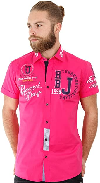 Redbridge Red Bridge - Camisa Casual - para Hombre Fucsia XXXXXL: Amazon.es: Ropa y accesorios