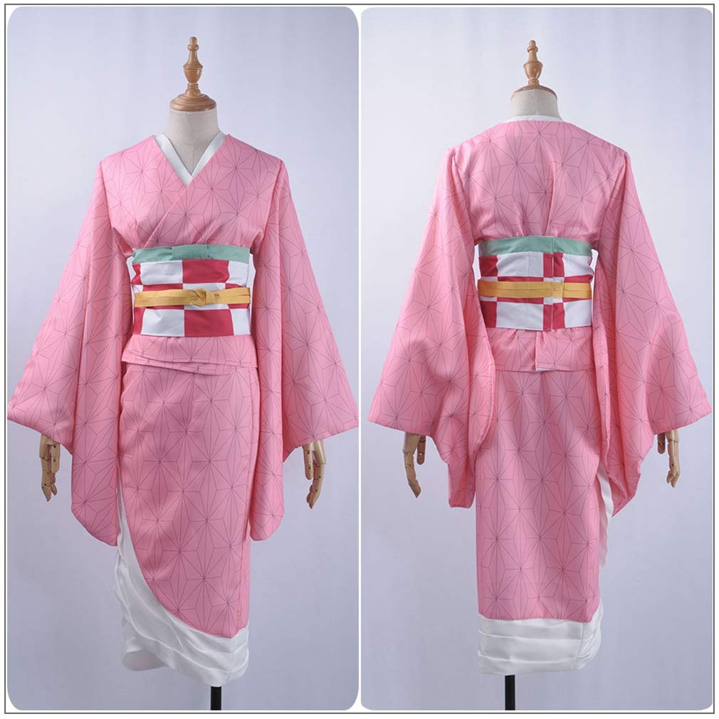 Demon Slayer Kamado Nezuko Cosplay Costumes Adult Kimono Suit Halloween Cos