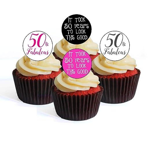 50 cumpleaños y fabulosas Decoraciones comestibles para ...