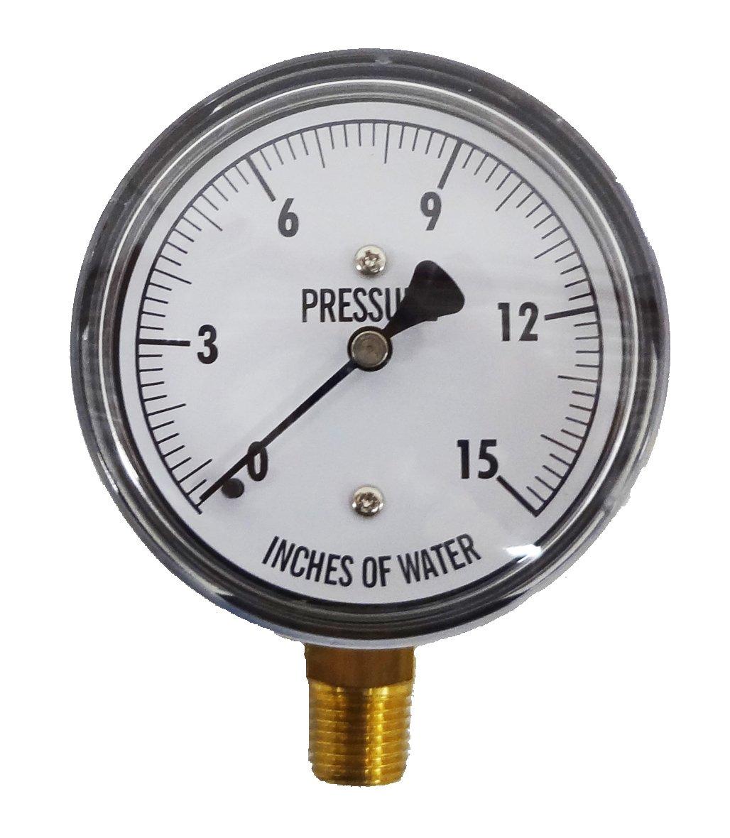 "Kodiak Controls KC25-15""H2O Low Pressure Gauge 15"" WC"