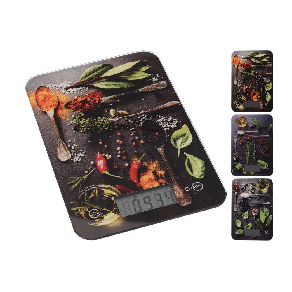 Báscula electrónica de cocina eléctrica digital Báscula Especias Diseños Romero, hasta 5 kg, 1 g División: Amazon.es: Hogar