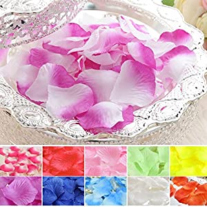 1000pcs Silk Rose Flower Petals Wedding Party Table Confetti Decorations Turquoise-1000pcs 2