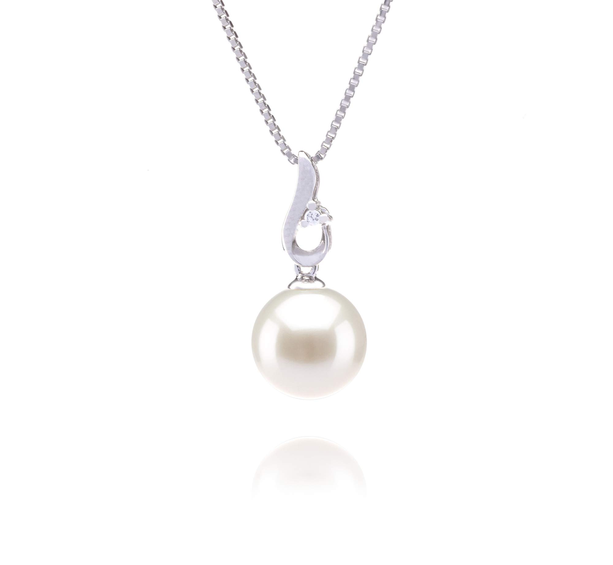 Courtney White 9-10mm AAAA Quality Freshwater 925 Sterling Silver Cultured Pearl Pendant For Women by PearlsOnly