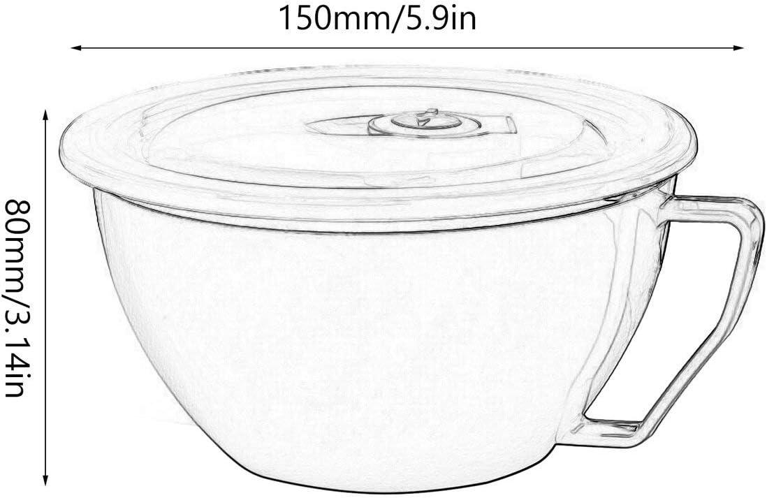 Bol /à Soupe Riz isol/é Frais Orange Migvela R/écipient Double en Acier Inoxydable avec Couvercle Bol /à Soupe Coupe de Nouilles Bol /à Soupe poign/ée pour Couvercle